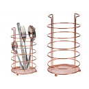 copper cutlery holder