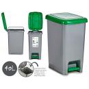 grüner Plastikbehälter 40l Recyclingfarben