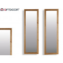 groothandel Spiegels: canada spiegel 38x140cm bruin