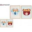 Tiermalerei für Kinder 40x50cm, 2 fach sortiert