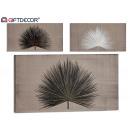 Palmblatt-Leinwand, Farben 3 fach sortiert 30x60