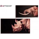 Elefanten-Nashorn-Malerei sortiert Kupferrahmen 61