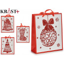 white and red gift bag 4 times assorted size