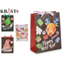 black gift bag 4 times assorted size assorted