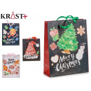black gift bag 4 times assorted size m