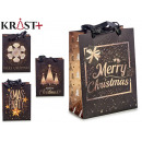 black and gold gift bag, 4 times assorted size