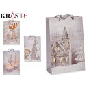 house and candles gift bag, 4 times assorted size