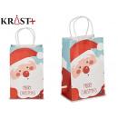 small merry christmas gift bag