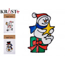 snowman crystal sticker 3 times assorted