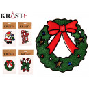 Christmas glass sticker 4 times assorted
