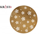 gold snowflake christmas placemat