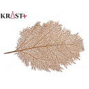 gold christmas coral leaf placemat