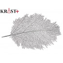 silver christmas coral leaf placemat