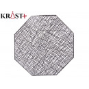 octagon silver christmas placemat