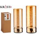 transparent tube 10 led gold 10x25cm d