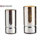 Decorative striped lamp led 18cm silver