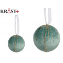 wholesale Hair Accessories: set of 4 balls velvet turquoise with cris