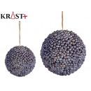ball tree texture fabric blue christmas m