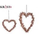 decorative pendant heart shape 15cm r