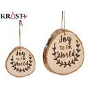 joy to the world christmas hanging ornament