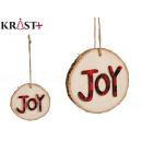 Christmas joy pendant ornament 8cm