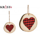 Christmas circle pendant ornament with heart