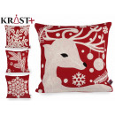 sheath Pillow Christmas red embroidery 45cm assort