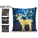 sheath Pillow christmas black blue and gold