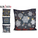 sheath Pillow dark christmas with slogan assorted
