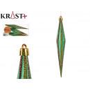 set of 3 elongated gold christmas ornaments 17cm