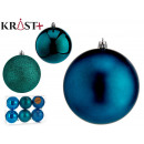 set of 6 turquoise colored christmas balls 10 cm