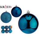 set of 6 turquoise colored christmas balls 8 cm