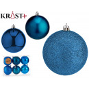 set of 6 turquoise colored christmas balls 7 cm