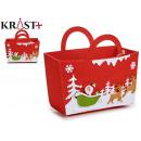 Christmas decoration basket with handle sut colors