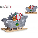 Korb Schlitten Weihnachten klein sortiert Grau