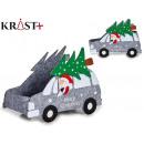basket car christmas decoration assorted Gray