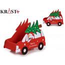 basket car christmas decoration assorted Red
