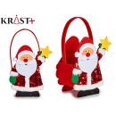 basket santa claus christmas decoration assorted