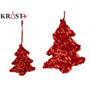red sequin tree bauble