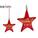 red xmas star christmas ornament