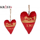 red xmas heart christmas ornament