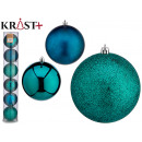 set of 6 christmas balls 12cm turquoise assorted