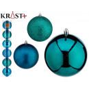 set of 6 christmas balls 10cm turquoise assorted