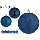 set of 6 christmas balls 8cm turquoise assorted