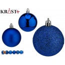 set of 6 christmas balls 6cm turquoise assorted