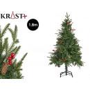 christmas tree green pine cones red berries 1