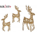 reindeer gold decorative christmas 50cm