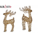 Christmas decorative gold reindeer 60cm