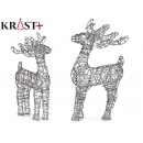 reindeer silver decorative christmas 70cm