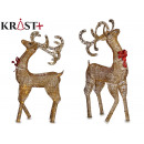 wholesale Other: reindeer gold red bow decorative christmas 1.